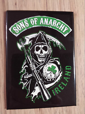 Sons Of Anarchy Reaper Ireland Logo Magnet Great TV Show FX
