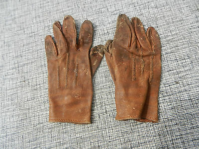 Antique Chester Signed Leather Children's Gloves