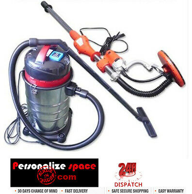 Drywall Sander and 30L Stainless Steel Wet & Dry Bagless Vacuum Cleaner