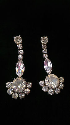 Vintage Style Earrings With Crystals