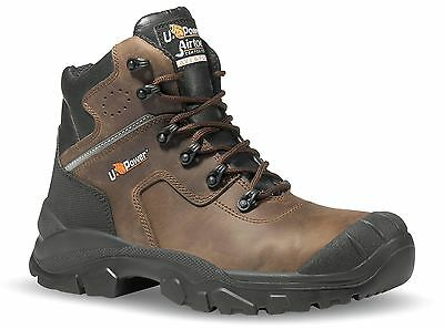 U-Power Greenland S3 Brown Leather Lace Up Metal Free Toecap Safety Boots