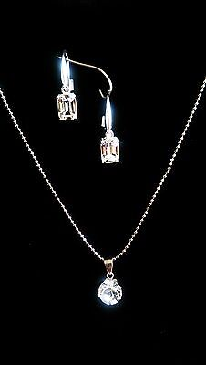 Sterling Silver Earring & Necklace Set