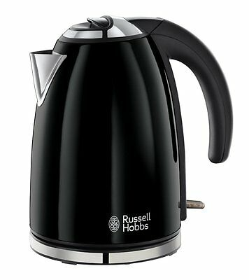 ● Russell Hobbs Jet Black Electric Kettle ● Stainless Steel, 1.7 L ● Brand New ●