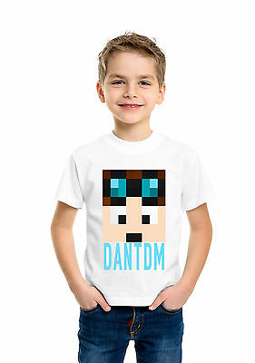 Dan TDM and Stampy Cat Children Funny Boys Girls Unisex White Top T Shirt 070