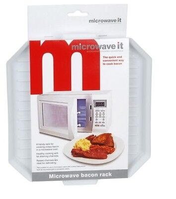 Microwave It Plastic Microwave Bacon Rack Bacon Crisper Defrosting Tray