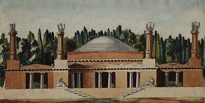 """""""Architectural Project"""", Italian School, Watercolor, Early 20th Century"""