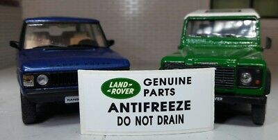 Land Rover Defender Discovery 90 110 TDi Radiator Decal Label Badge Antifreeze