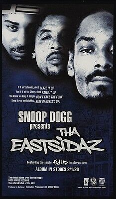 2000 SNOOP DOGG - THA EASTSIDAZ Album Release VINTAGE ADVERTISEMENT