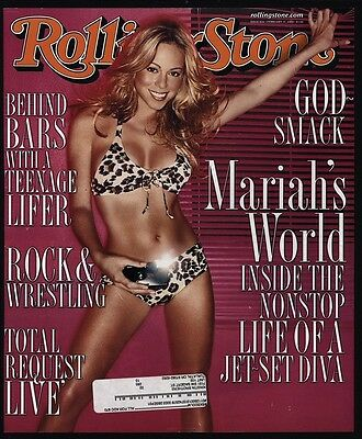 2000 Sexy MARIAH CAREY Vintage ROLLING STONE Magazine *COVER ONLY*