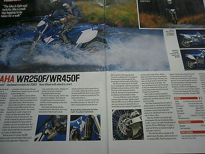 Yamaha Wr250F / Wr450F # First Ride Colour Article # 2 Pages