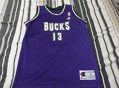 ca62ea934 NWOT Vtg 90s Champion Basketball Jersey GLENN ROBINSON MILWAUKEE BUCKS  Youth L