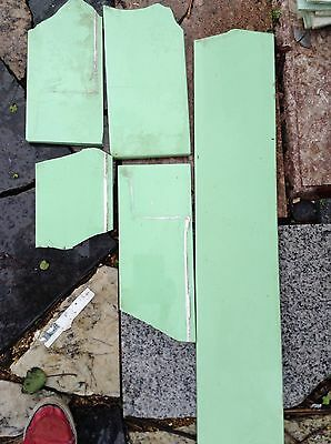 ANTIQUE VINTAGE VITROLITE GLASS TILE JADEITE GREEN MANTLE Fire King Jade Tiles