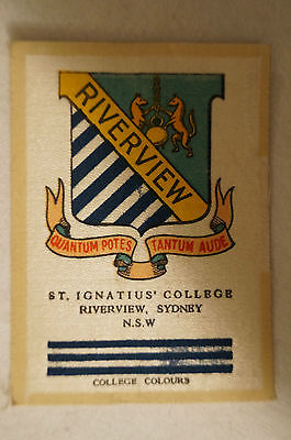 Vintage-1915-Wills Silk-School Crests- St.Ignatius College - Riverview - Sydney