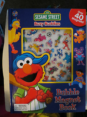 SESAME STREET Busy Buddies Bubble Magnet Book BRAND NEW!!! Great Gift!