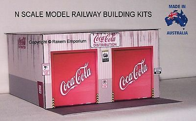 N Scale Warehouse Distribution Coca Cola Model Railway Building Kit - NCCWH
