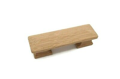 """4 1/2"""" Square Oak Pull Mission Wood Pull Empire Pull Cabinet Drawer Wood Pull"""