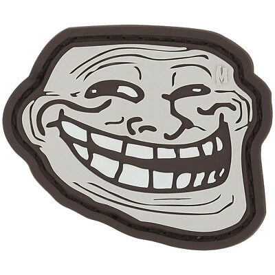 Maxpedition Happy Troll Face Rubber Morale Patch Funny 3D PVC Badge Arid