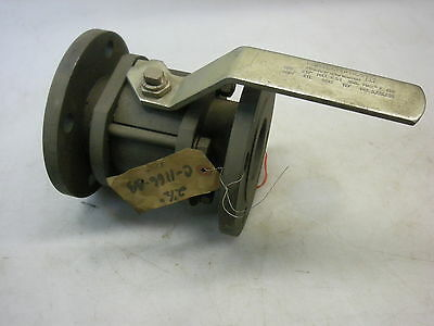 "Contromatics 2-1/2"" Flanged Ball Valve Steel Body Teflon Seat Max PSI 300"