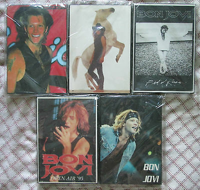 Lot of 5 Bon Jovi laminated picture with black frame