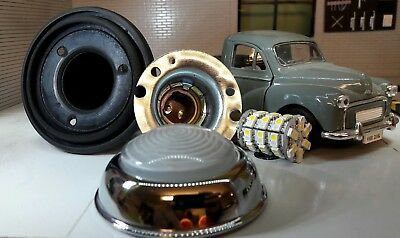 Morris Minor Lucas L489 Combined Sidelight & Indicator Complete Glass Lens Repro