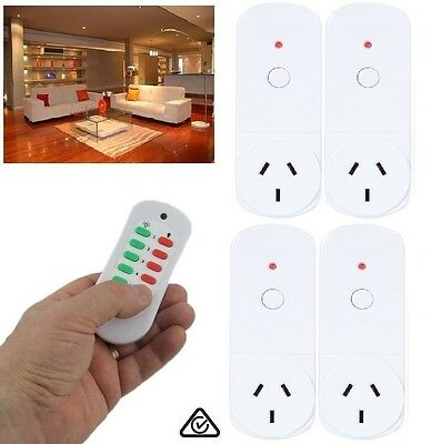 Indoor Remote Controlled Power Points 4 x Powerpoint Controller Kit Control 30m