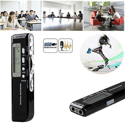 8GB MP3 MIC Spy Stereo Mini Digital Voice Sound record Phone Recorder Dictaphone