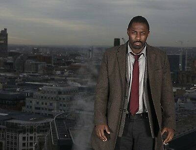 Luther Idris Elba Photo Print Poster 8.5 by 11 inches Glossy High Quality