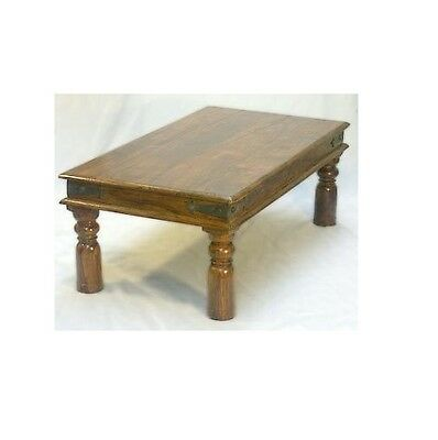 Indian Jali Coffee Table Solid Sheesham Rosewood 110x60cm by Mercers Furniture®