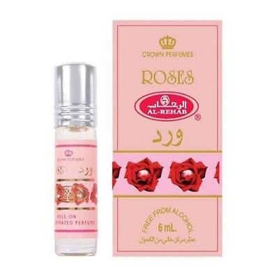 Roses concentrated Crown Perfume Oil Women Fragrances by Al Rehab 6ML/35ML Pack