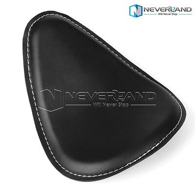 Leather Solo Bracket Motorcycle Driver Seat For Harley Sportster Chopper Custom
