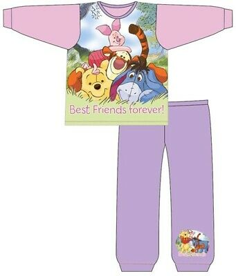 Kids Baby Disney Girls Winnie The Pooh Bear Sleepwear Outfits Pyjamas Pjs Sets