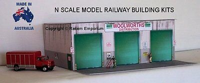 N Scale Warehouse Distribution Woolworths Model Railway Building Kit - NWWH