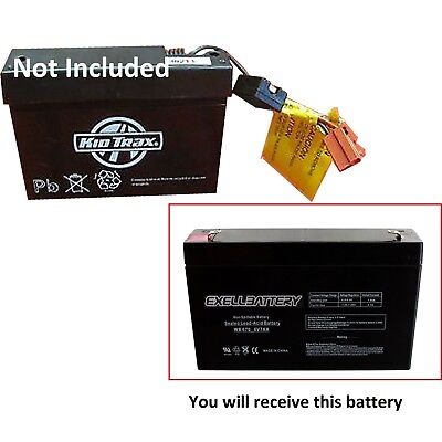 6v 7ah Kid Trax Replacement Toy Battery - 6 volt 7 amps KidTrax *FAST USA SHIP