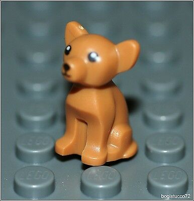 Lego City x1 Small Brown Chihuahua Dog Puppy Pet Animal Friends Minifigure NEW