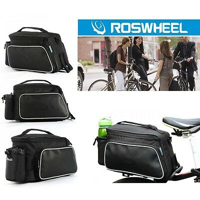 HOT SALE 30L Bicycle Black Rear Double Side Rack Bag Tail Seat Pannier L4F1