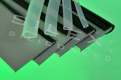 Rubber edging strip silicone U channel edge protection 1.2mm gap trans