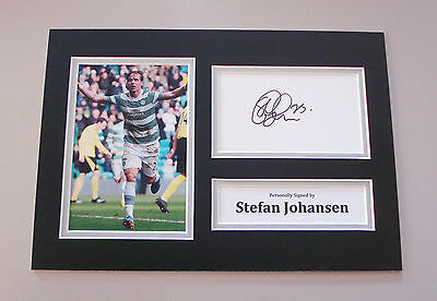 Stefan Johansen Signed A4 Photo Autograph Display Glasgow Celtic Memorabilia COA