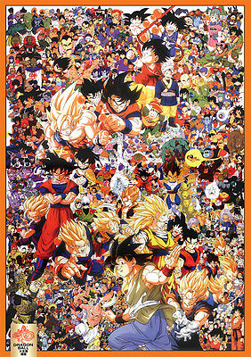 Sticker Poster A4 Manga Dragon Ball Z.deco. Dbz Tous-All Perso & Goku Evolution.