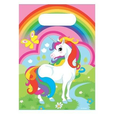 UNICORN & RAINBOW  -  GIRL'S LOOT PARTY BAGS - Various quantities FAVOURS