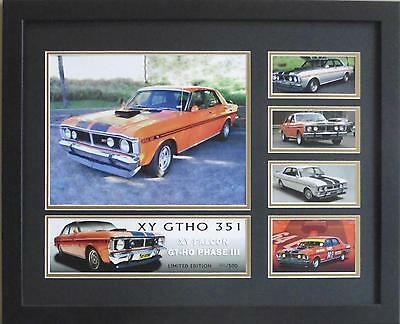 Ford Xy Gt-Ho Phase 3 Framed Limited Edition Memorabilia