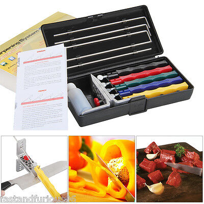 Knife Sharpener Kitchen Sharpening Tools Sword System Fix-angle With 4 Stone III