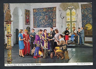 C1970's View of Musicians in Costume, Bunratty Castle Great Hall, County Clare.