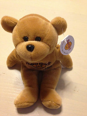 Isaac Beara Cayman Islands HARDROCK CAFE Collectible BEANIE BEAR NEW WITH TAG!