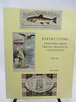KIT BARRY 1993 - Reflections Ephemera from Trades Products & Events AUCTION Book