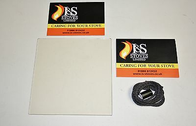 Stovax Stockton Stove Replacement Glass with FREE Seal/Gasket - All Models