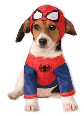 Spider-Man Marvel Comics Superhero Fancy Dress Up Halloween Pet Dog Cat Costume
