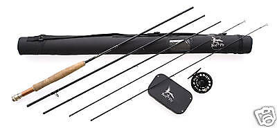 "FLY FISHING ROD HI END COMBO 8'9"".LW5, 4 SEC Rod,Fly Reel,Lines,50 Flies boxed"