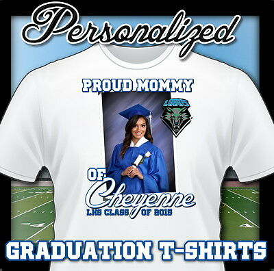 NEW CUSTOM PERSONALIZED High School Graduation Grad T SHIRT FAVOR ADD NAME