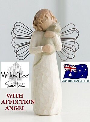 Willow Tree WITH AFFECTION ANGEL Figurine By Susan Lordi By Demdaco BRAND IN BOX