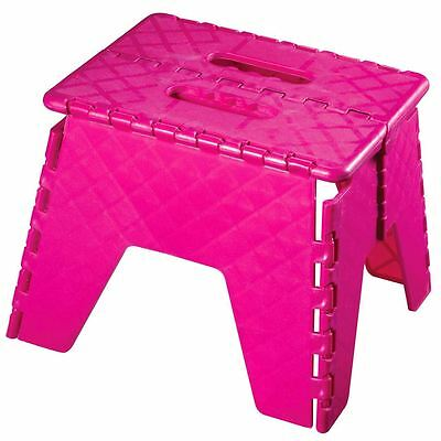 Hot Pink Foldable Step for Multi Purpose for Home & Kitchen in Plastic
